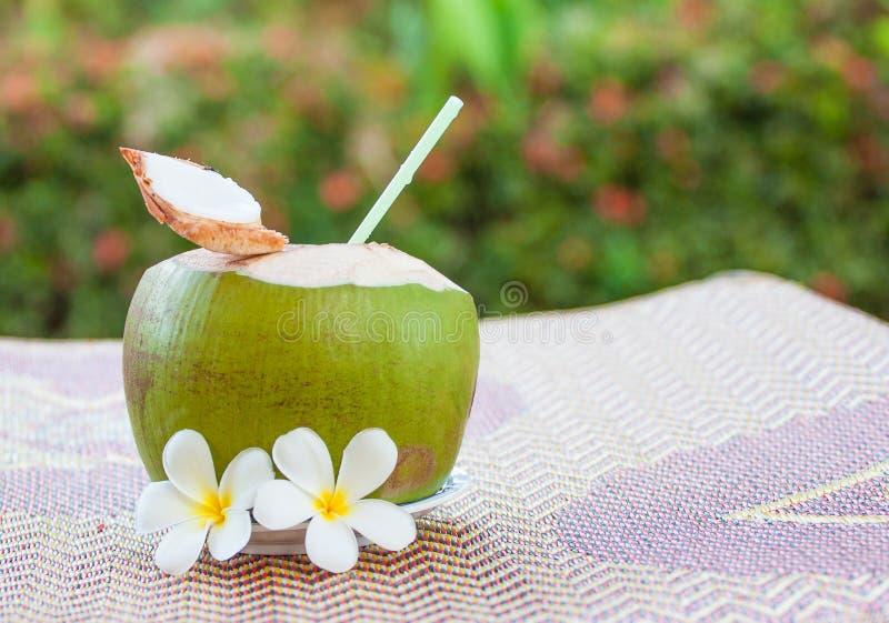 Kokosnotendrank stock afbeelding
