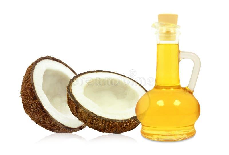 Kokosnotenolie royalty-vrije stock afbeeldingen