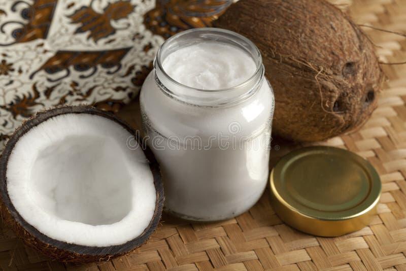 Kokosnotenolie royalty-vrije stock foto's