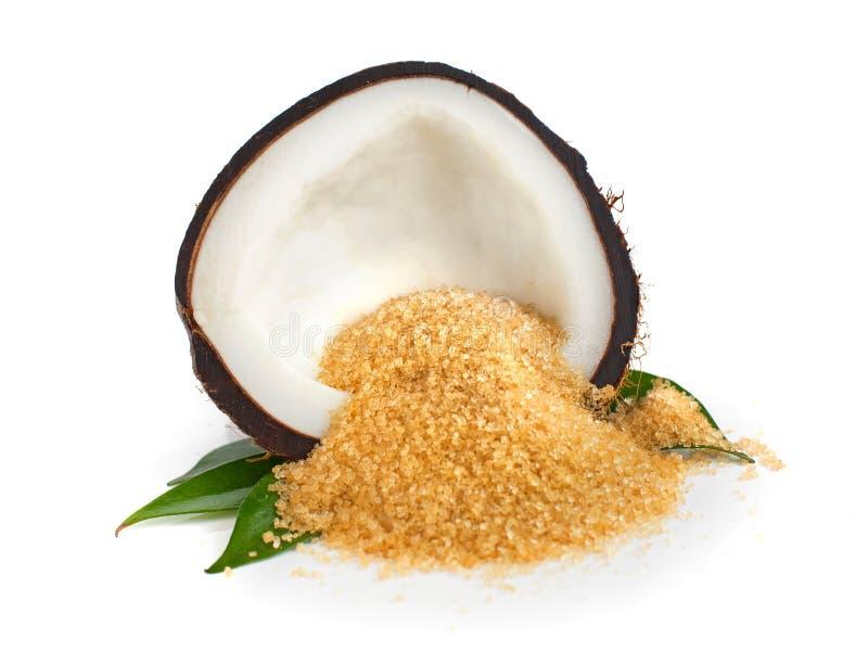 Kokosnotensuiker royalty-vrije stock afbeelding