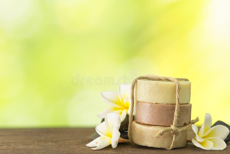 Kokosnotenzeep, mangostanzeep, de zeep van de rijstmelk royalty-vrije stock fotografie
