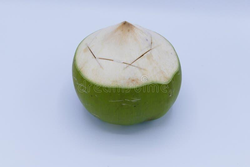 Kokosnuss auf weißem Hintergrund stockbild
