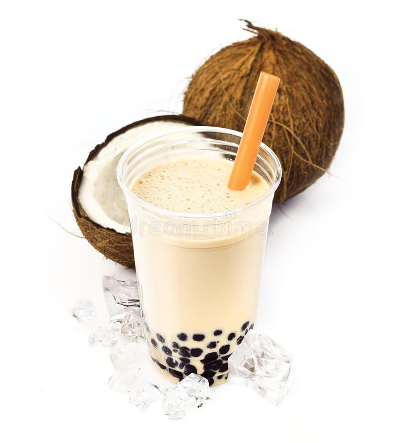 Kokosnuss Boba Luftblasen-Tee stockfoto