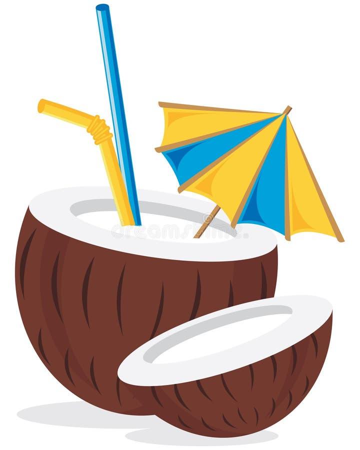 Kokosnuss-Cocktail-Getränk vektor abbildung