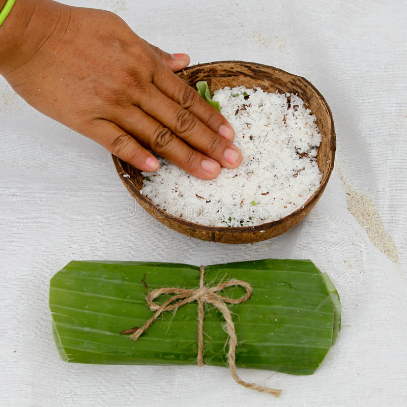 Kokosnuss für Badekurort lizenzfreies stockfoto