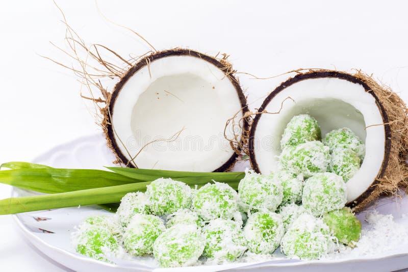 Kokosnuss mit malaysischer Zartheit stockfotografie