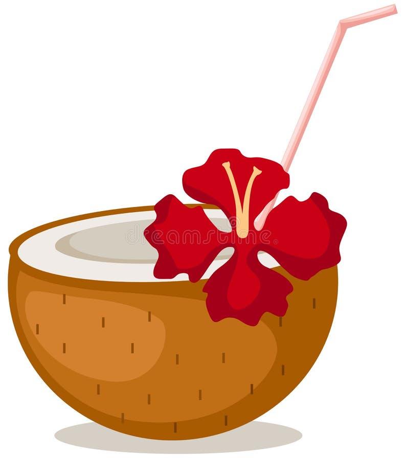 Kokosnusscocktail lizenzfreie abbildung