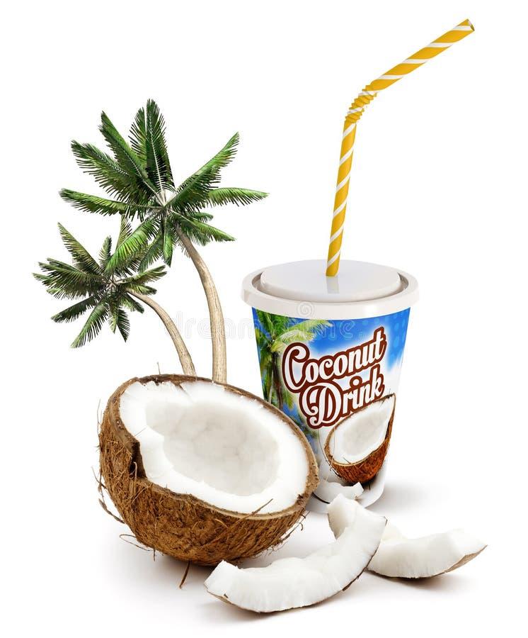Kokosnussgetränk lizenzfreie abbildung
