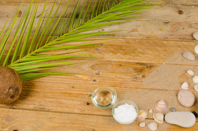 Kokosnusslichtschutz lizenzfreies stockfoto
