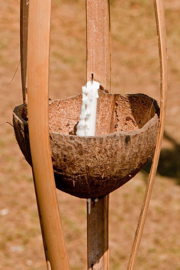 Kokosowe lampy zdjęcia royalty free