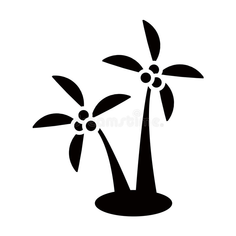 Kokosowego drzewa ikona ilustracja wektor