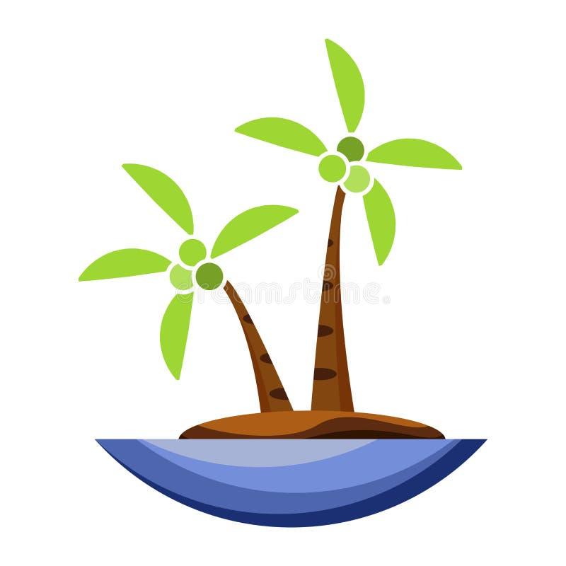 Kokosowego drzewa ikony kreskówka ilustracja wektor