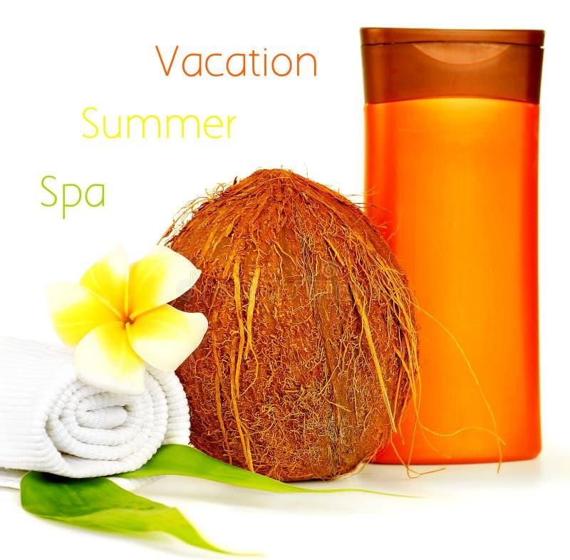 kokosowego oleju zdroju terapia obrazy royalty free