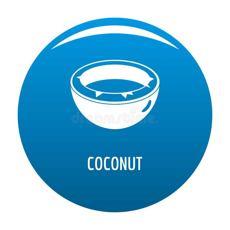 Kokosowy ikony błękit ilustracja wektor