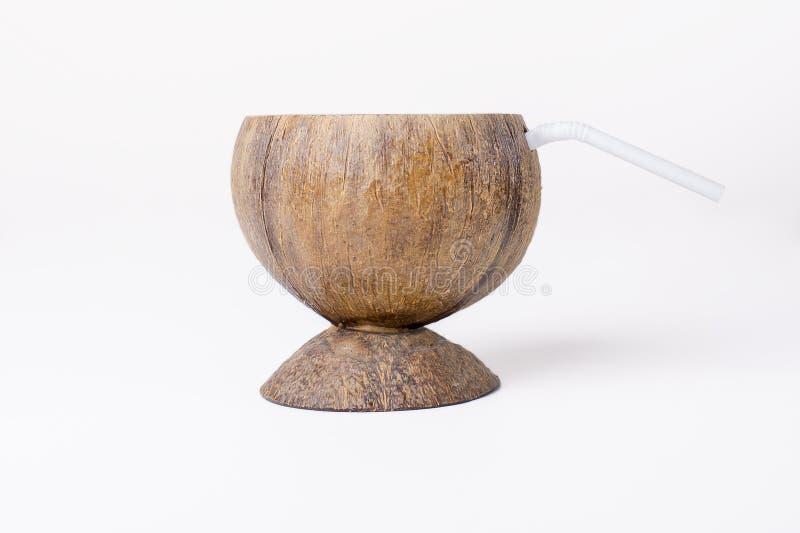 Kokosowy koktajl Pije filiżankę zdjęcie stock
