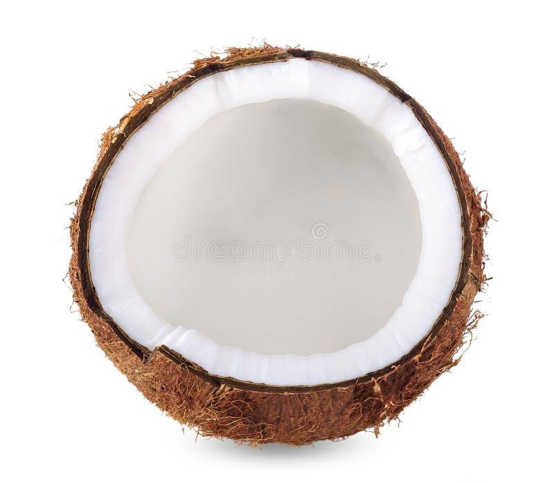 Kokosowy mleko odizolowywający na białej ścinek ścieżce obrazy stock