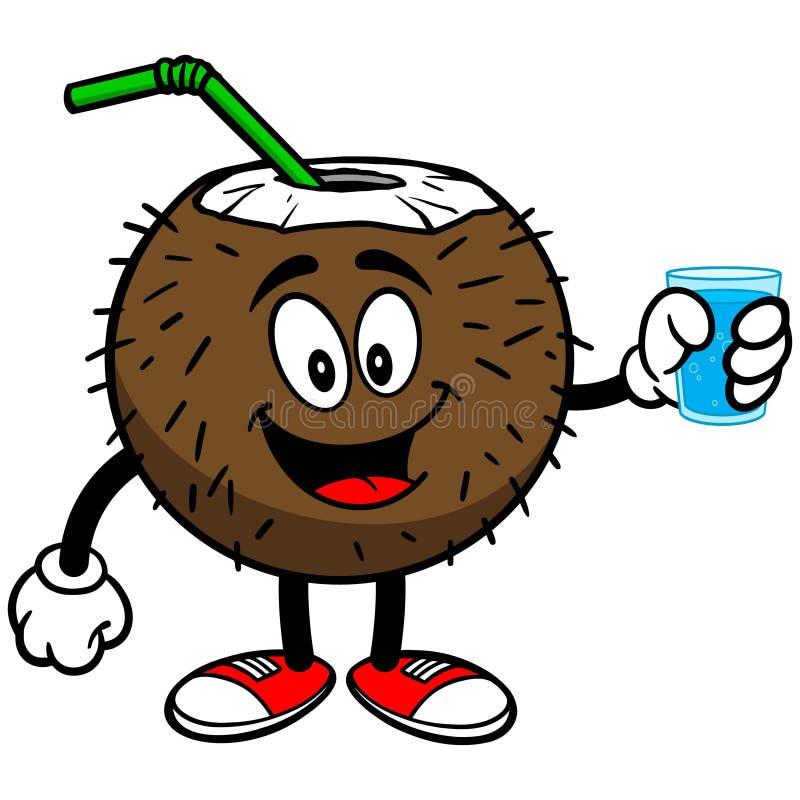Download Kokosowy Napój Z Filiżanką Woda Ilustracja Wektor - Ilustracja złożonej z alkohol, lokacje: 53790699