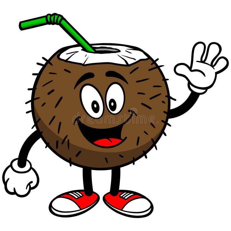 Download Kokosowy napoju falowanie ilustracja wektor. Ilustracja złożonej z koks - 53790643