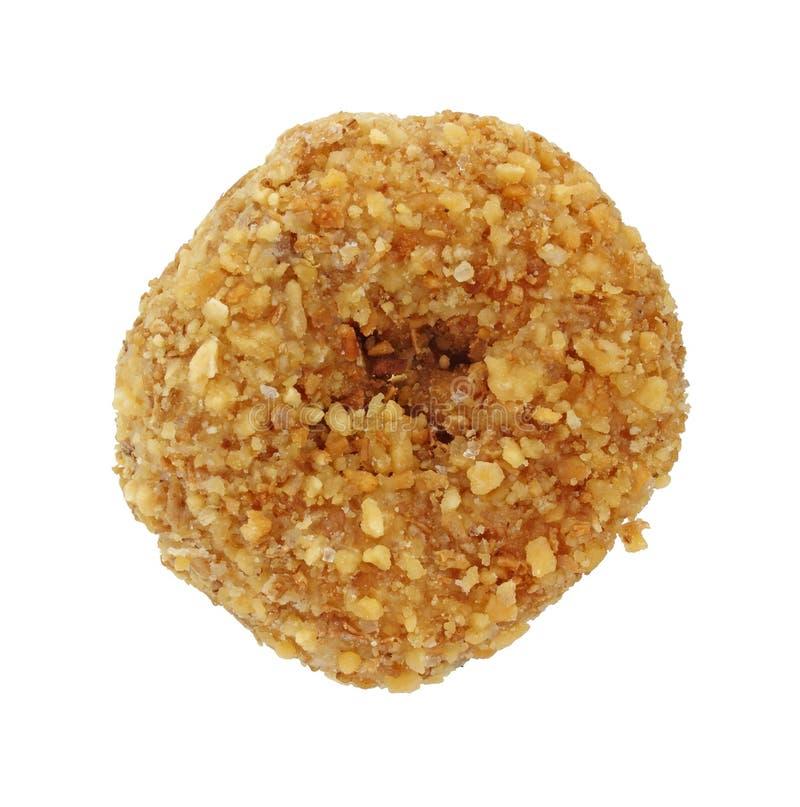 kokosowy pączek flaked pojedynczy obrazy stock