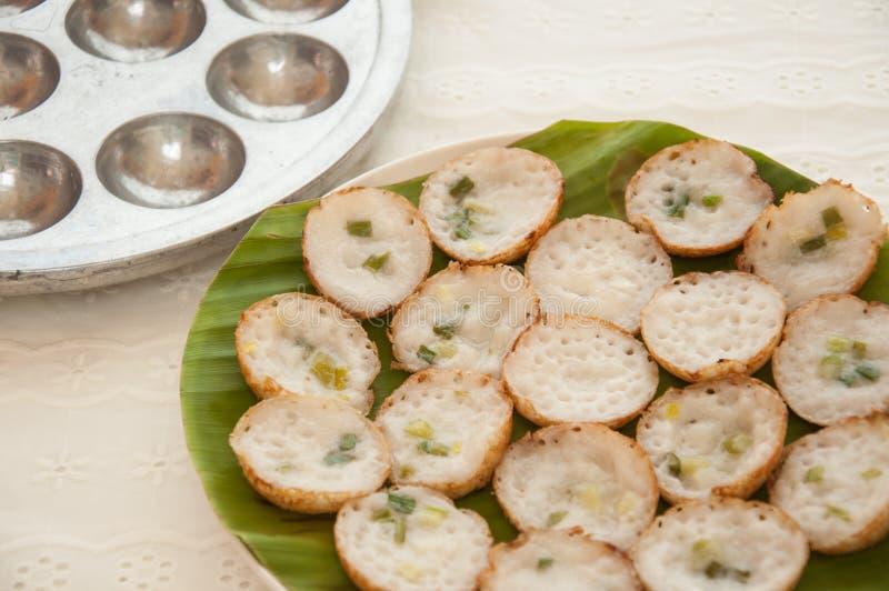 Kokosowy pudding jest Tajlandzkim grylażem jakby. obrazy stock