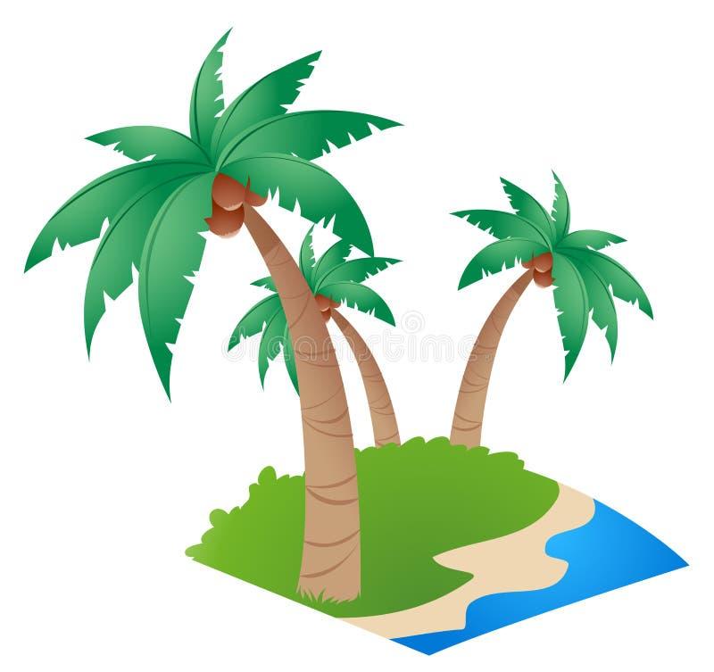 Kokospalm stock illustratie