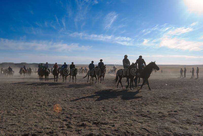 Kokpar - jogo do cavalo. imagens de stock royalty free
