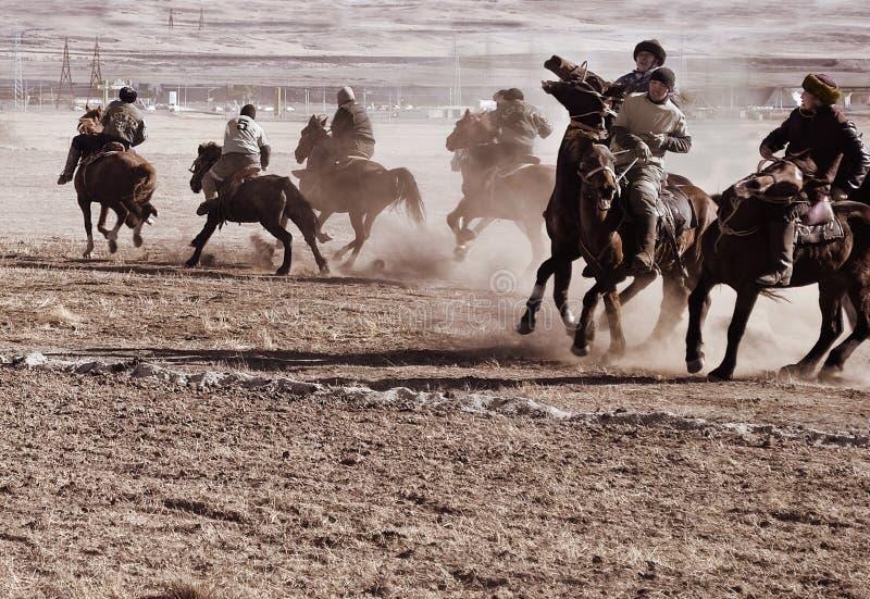 Kokpar - jogo do cavalo. imagem de stock