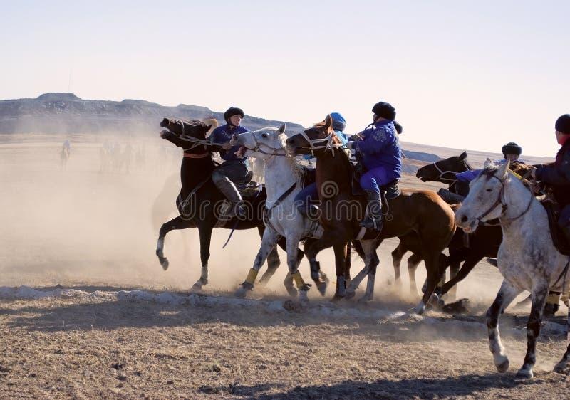 Kokpar - juego del caballo. imagen de archivo libre de regalías