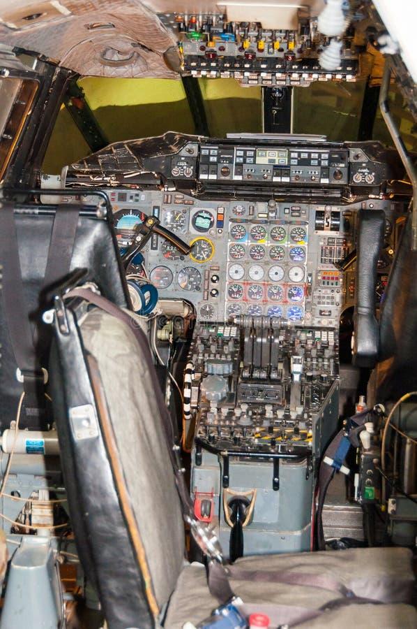 Kokpit Brytyjski samolot Korporacja, Concorde, G-AXDN zdjęcie royalty free