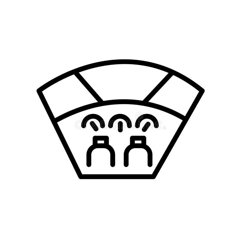 kokpit ikona odizolowywająca na białym tle ilustracji