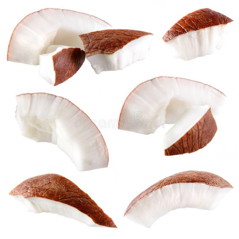 Koks. Kawałki odizolowywający na bielu. Kolekcja zdjęcie royalty free