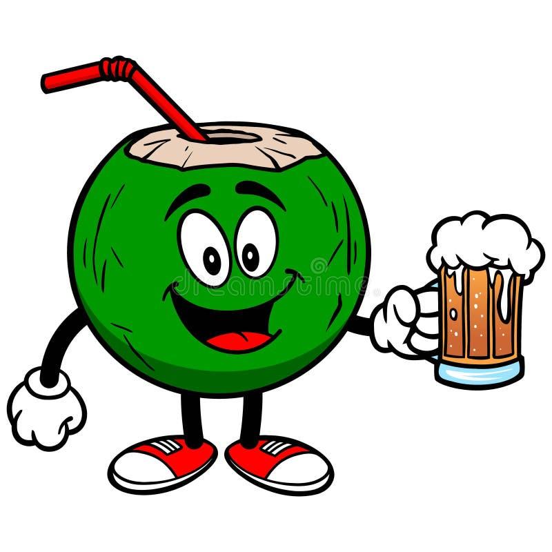 Download Koks woda z piwem ilustracja wektor. Ilustracja złożonej z klimat - 53791040