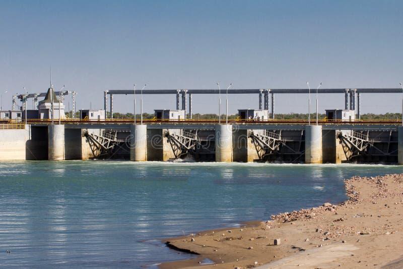 Koksaray sul fiume di Syr Darya fotografia stock