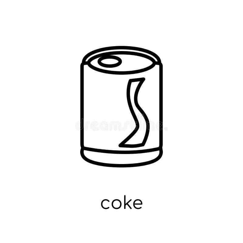 Koksikone von der Getränksammlung lizenzfreie abbildung