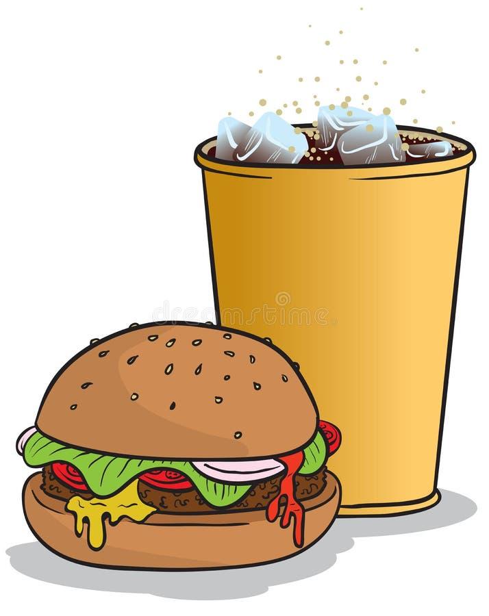 koksowniczy hamburger ilustracja wektor