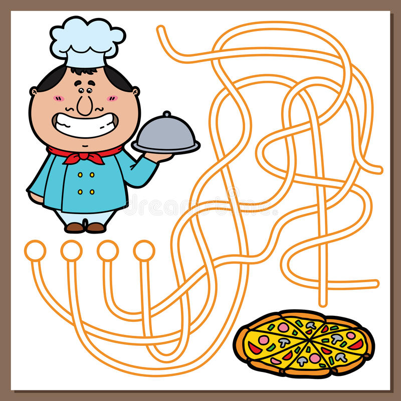 Kokspel stock illustratie