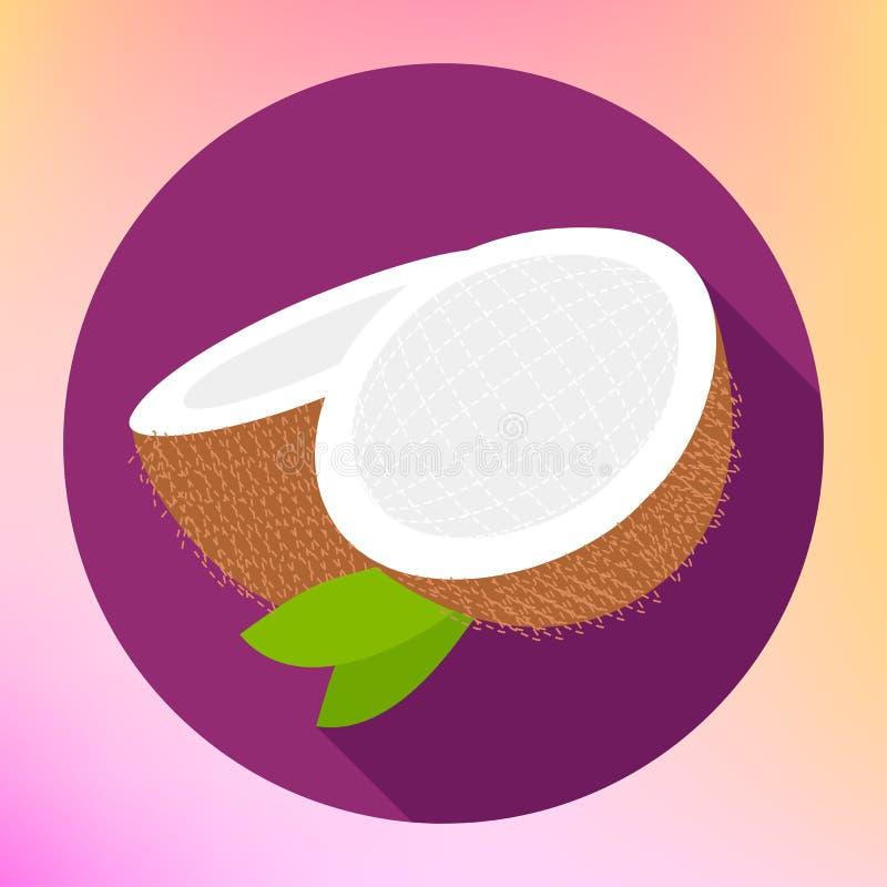 Koksu znak Coco jedzenia ikona ilustracji