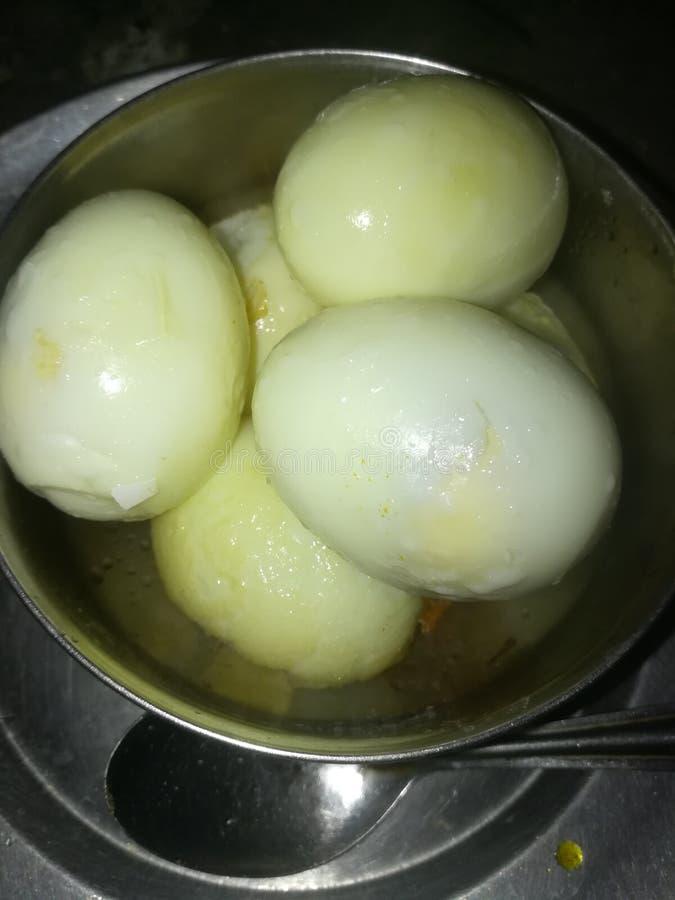 kokt ägg royaltyfri foto