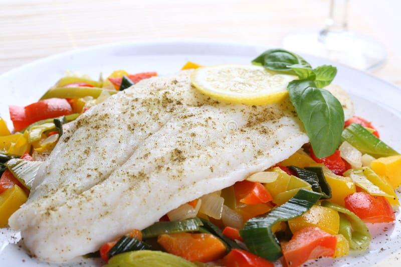 kokt fisk arkivbilder