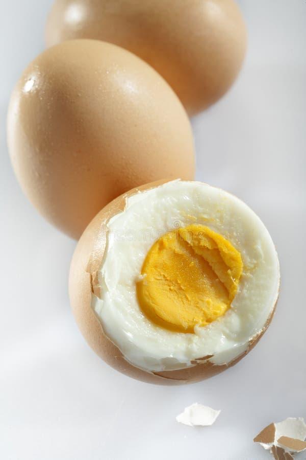 Kokta ägg arkivfoton