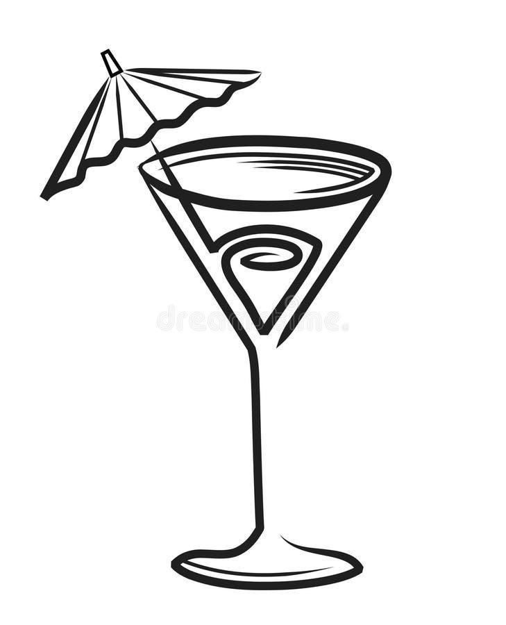 koktajl royalty ilustracja