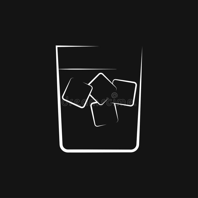 Koktajl ikony wektor, piktogram odizolowywaj?cy na tle Symbol, logo ilustracja ilustracji