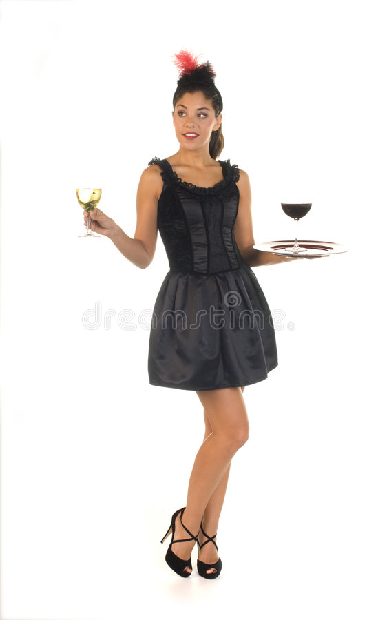 koktajl kelnerka zdjęcie stock