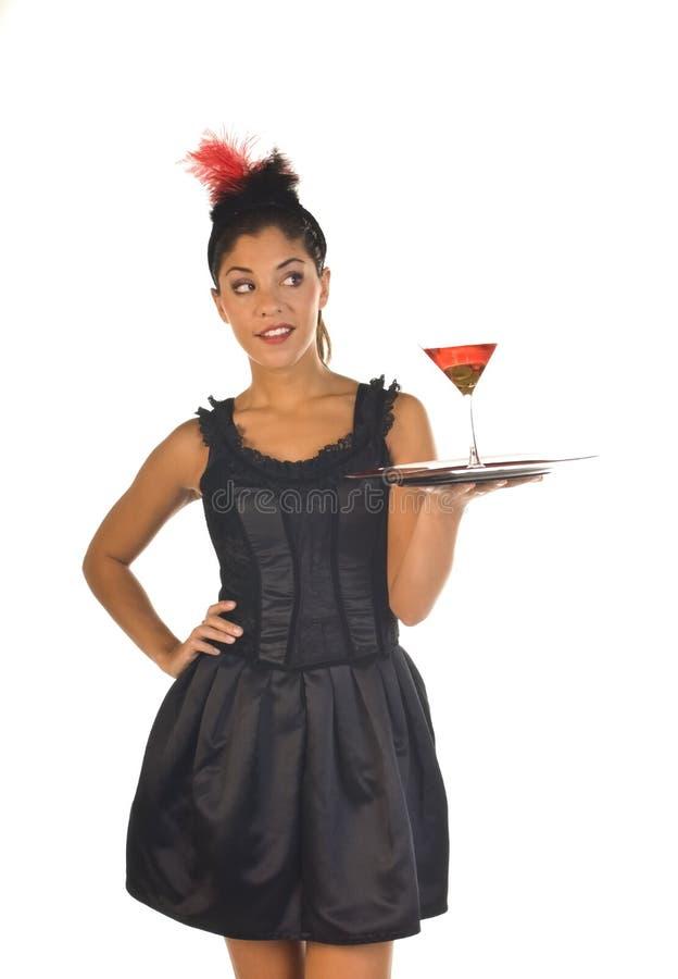 koktajl kelnerka zdjęcie royalty free