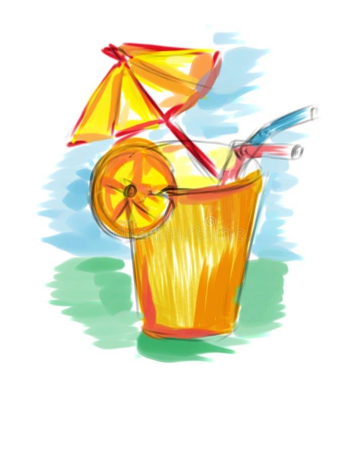 koktajl pomarańczowy ilustracji