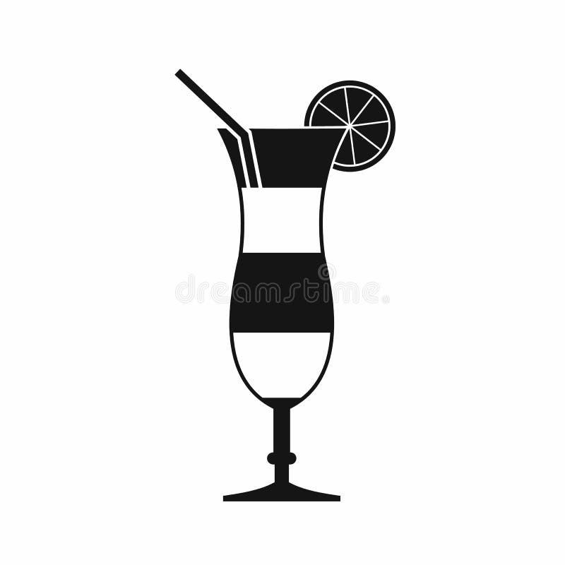 Koktajl z cytryny ikoną, prosty styl royalty ilustracja