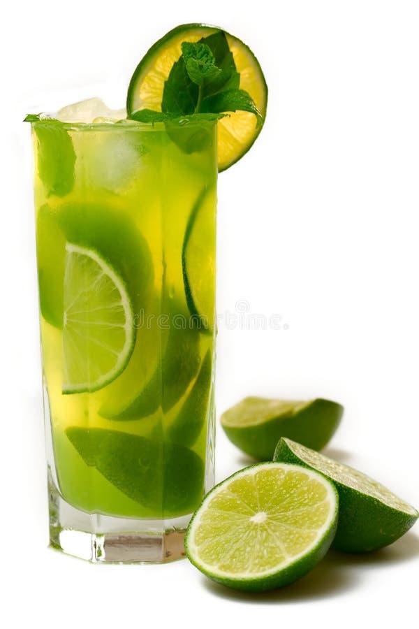 koktajl zieleni wapno mennica zdjęcie royalty free