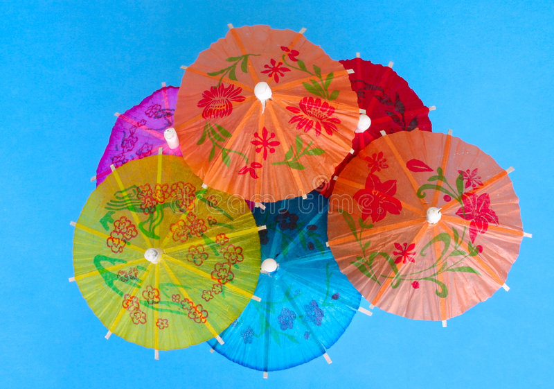 koktajle parasole fotografia royalty free
