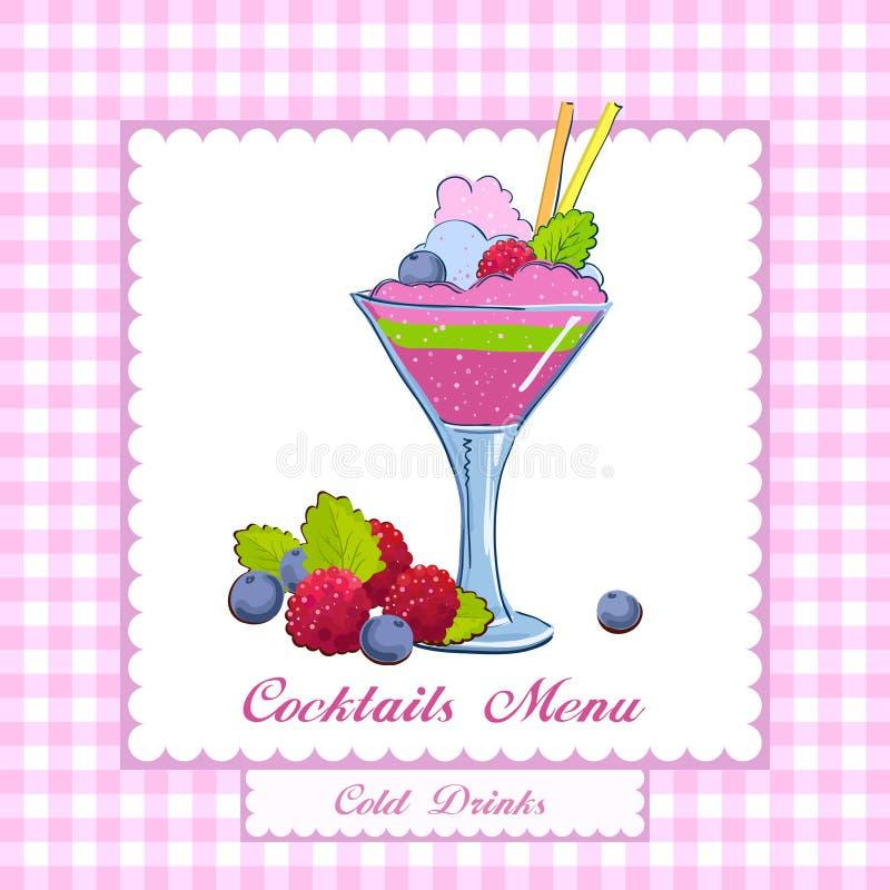 koktajlu menu royalty ilustracja