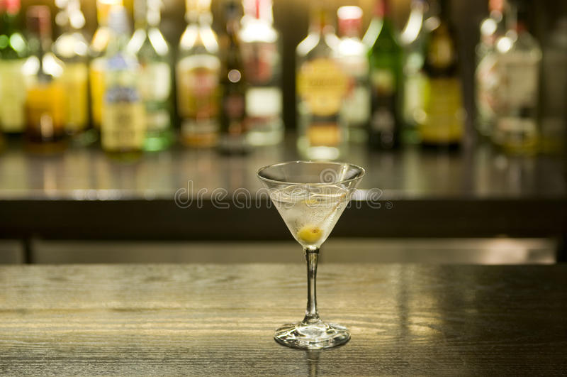 koktajlu prętowy napój Martini obraz royalty free